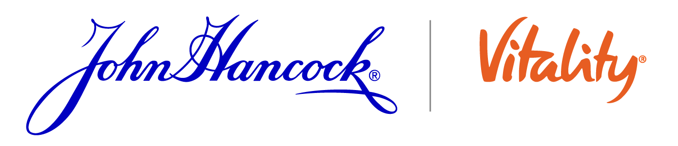 John Hancock blue logo and Vitality Logo side by side